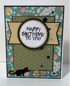 I made this card for the Taylored Expressions 9th Birthday Sketch Challenge. This was such a fun sketch to work with and one I think I'll come back to again. The patterned paper is Simple Stories and the stamp set is by My Sentiments Exactly.