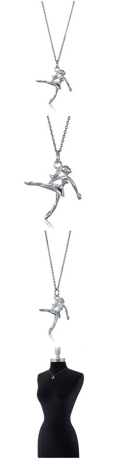 Sterling Silver Dancing Girl Fashion Necklace