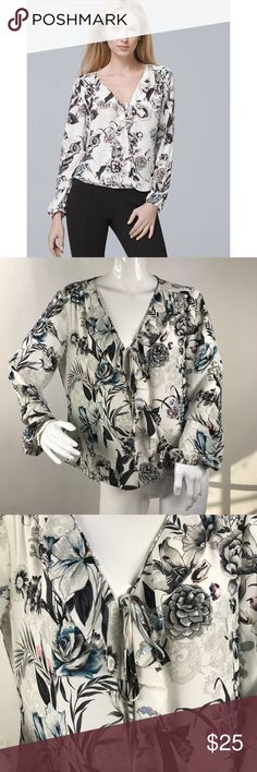 b666c3f9721d8 WHBM Size 6 Floral Top Coming soon White House Black Market Tops Blouses
