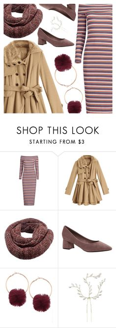 """A Striped Dress Look with Zaful"" by amberelb ❤ liked on Polyvore"