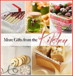 DIY::  Great Gifts From The Kitchen ! These are Great & New Ideas !!