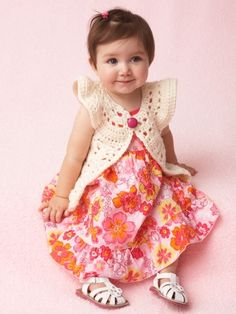 Flutter Sleeve Vest | Yarn | Free Knitting Patterns | Crochet Patterns | Yarnspirations ((Sizes 6m- 24m))