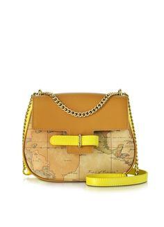 3755a9dcdd Alviero Martini 1A Classe Small Kalifornia Geo Print Leather Crossbody Bag