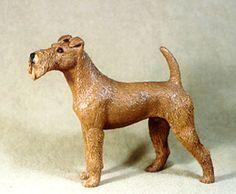 Cartoon Irish Terrier | Bullmastiff Bird House Dog Is Hand Cast And Hand Painted | Dog Breeds ...