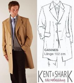 "Kent + Shark Wollmantel ""Cannes"" nach Maß"