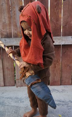 Toddler Ewok Costume, Wicket Wystri Warrick, Star Wars, Halloween, Comic Con, Photography Prop, Unique Made to Order