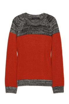 Thakoon|Color-block wool and cashmere-blend sweater|NET-A-PORTER.COM