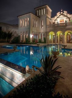 Take a look at this elegant classic Italian style home and swimming pool. #KBHome