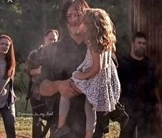 Daryl (Norman Reedus) w/Judith - Season 8B