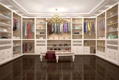 If there's one design element that's hard to get too much of, it's a well-designed, enviable walk-in closet. Luxury Wardrobe, Luxury Closet, Bungalow Haus Design, House Design, Free Floor Plans, Storey Homes, Closet Designs, Walk In Closet Design, Built In Wardrobe