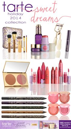 Tarte Holiday Collection 2014: Sweet Dreams Makeup Picks
