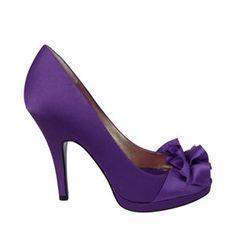 My Shoes :  wedding purple shoes EVELIXA GRAPE LUSTER SATIN Large