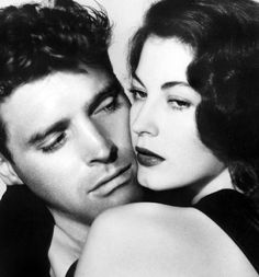 Two people almost too beautiful for one movie -- Burt Lancaster and Ava Gardner, The Killers (1946).
