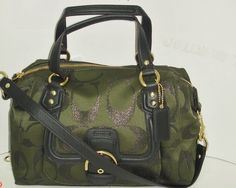 'Coach Cmpl Signature Metallic Satchel ' is going up for auction at  2pm Sat, Nov 9 with a starting bid of $1.