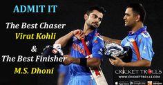 Meet The Best Chaser – Virat Kohli & The Best Finisher – M.S.Dhoni #INDvsAUS #AUSvsIND Cricket Trolls #Cricket Virat Kohli Circle of Cricket - MS Dhoni #MSDhoni #ViratKohli #BestFinisher #BestChaser http://www.crickettrolls.com/2016/03/28/meet-the-best-chaser-virat-kohli-the-best-finisher-m-s-dhoni/
