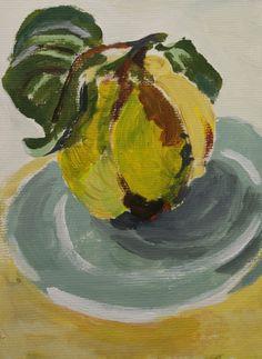quince | kweepeer | www.lotjemeijknecht.nl painting