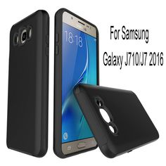 New for Samsung Galaxy J710/J7 2016 Phone Cases Hybrid Wire Drawing Armor Phone Back Cover Case 2 in 1 Galaxy J710/J7 2016 Shell