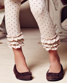 oatmeal knit ruffled leggings. I know these are for kids but I can dream up some really cute outfits for me with them!