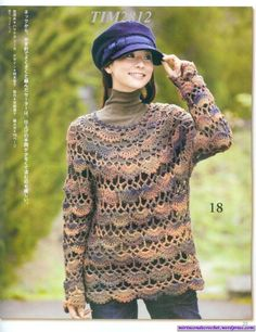 Last thing (today) from 'My Corner of Crochet'...there's a chart for this really cute sweater!