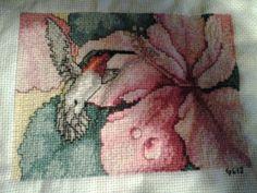Humming bird cross stitch