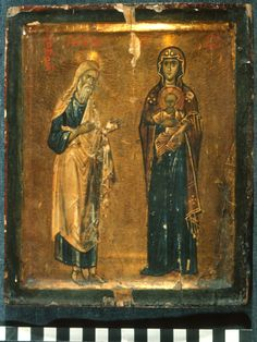 """Holy Greatmartyr Theodore the Tyro (""""the Recruit"""") before the Virgin Kyriotissa Byzantine Icons, Byzantine Art, Religious Icons, Religious Art, Saint Catherine's Monastery, Paint Icon, Medieval Paintings, Russian Icons, Best Icons"""