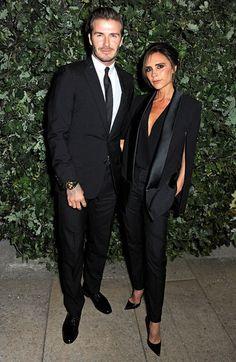 David and Victoria Beckham suit up together!