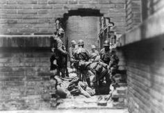 Japanese soldiers in Shanghai, China, Aug-Nov 1937