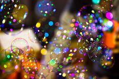 colorful bubbles.