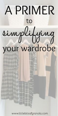 This is a great motivator for getting started with simplifying your wardrobe! #Simplify
