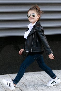 Kids Street Style in Monochrome by Miss Kaira | EdgyCuts