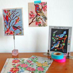 vintage embroideries - 5 pretty postcards. €6.00, via Etsy.