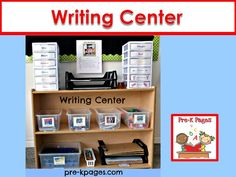 Writing Center ideas and materials for your preschool, pre-k, or kindergarten classroom.