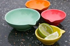 Neon Citrus Measuring Cup Set of Four  Kitchen by GrayDecember, $49.95
