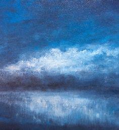 Playing with blue skies. Oil on canvas by Nial Adams. Studio portfolio at www.bignorfolkskies.co.uk