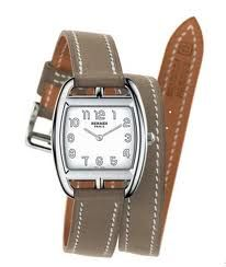 classic and chic  Hermès watch.  Perfect timing.