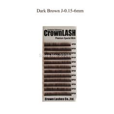 CrownLash Lower Lash Dark Brown J-0.15-6mm Eyebrows Extension Under Lash