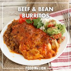These burritos are super easy to make and pack a powerful punch of flavors and spice. You can prep them ahead of time and place in the freezer for quick meals. Bean Burritos, Mexican Food Recipes, Ethnic Recipes, Spanish Rice, Refried Beans, Food Festival, Holiday Baking, Enchiladas, Quick Meals