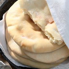 """Pita Bread: Don't need the """"easy-roll""""  just use 1/2 tsp of baking powder and replace 1/3 cup of the water with milk."""