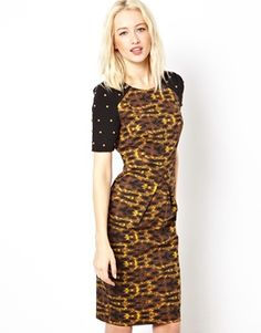 Beloved Cameron Shift Dress with Stud Sleeves