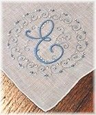 Blue embroidered hanky