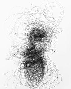 Ideas For Sad Art Photography Grief Dark Art Drawings, Pencil Drawings, Scribble Art, Arte Sketchbook, Sad Art, Arte Horror, Line Drawing, Drawing Ideas, Drawing Art