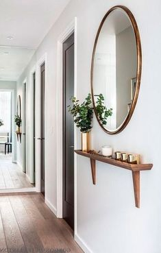 Apartment Decoration, Small Apartment Decorating, Entryway Decor, Entryway Storage, Entryway Mirror, Apartment Entryway, Foyer, Office Decor, Dining Table Makeover