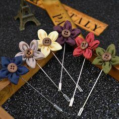Mdiger Marque Floral Broche De Mariage Broche Bouquet Broche Fleur Nouvelle pour Hommes Costume Floral Revers Broches Broches Tissu Hommes Broches