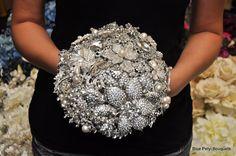 Custom Brooch Bouquet:) #wedding #bouquet