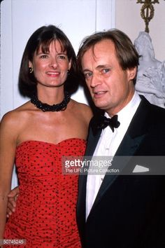 Actor David McCallum with his wife.