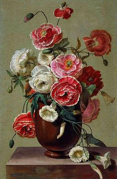 Antoine Berjon Flowers in a Vase 19th century