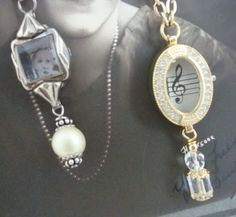Repurposed jewelry from old watches, buttons, and more.