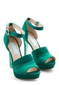 Strutting in Satin Heel | Mod Retro Vintage Heels | ModCloth.com