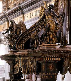 Borromini. Coronación del baldaquino de San Pedro