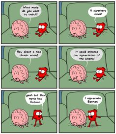 The Awkward Yeti - funny comics on how the heart & brain work